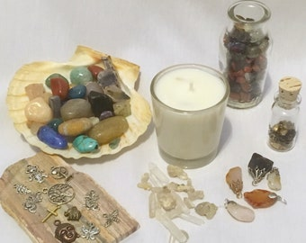 Treasure votive candle, soy wax candle, reveal candles,