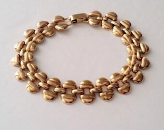 Krementz 14k Gold Filled Link Bracelet
