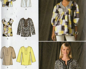 Simplicity 6 Made Easy Pattern 2696 PULLOVER TUNICS Misses Sizes 14 16 18 20 22