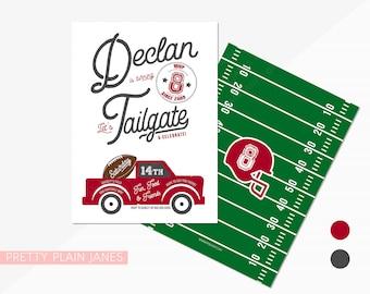Football Tailgate Birthday Invitation | Birthday Football Invite | Digital Printable Football Invite | Football Tailgate Party Invite - 5X7