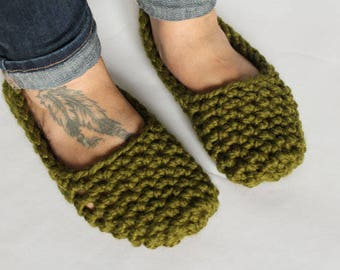 Crochet Pattern/Chunky Crochet Slippers/THE OSNABROCK