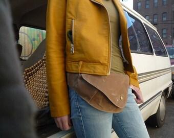 Fanny Pack, Belt Bag, Hip Bag, Waxed Canvas, Boho, Festival Bag, Bum Bag, Tan, Duck Canvas Bag, Brown, Rustic, Hands Free Bag, Travel Bag