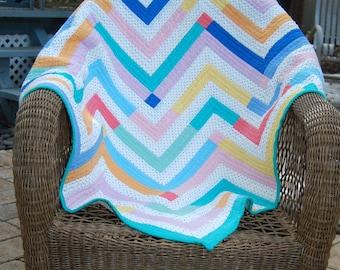 Fun and Bright Modern Handmade Baby Quilt