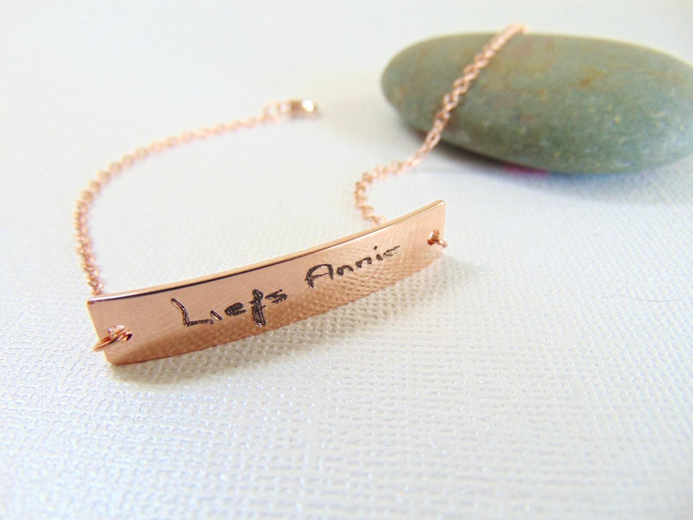 Custom written paper by handwriting bracelet