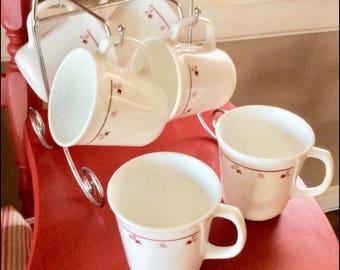 Vintage Correl Glass Mugs