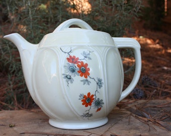 Vintage coffee pot // floral  Enterprise Aluminum Co. Drip-O-Later // Tea pot // farmhouse decor