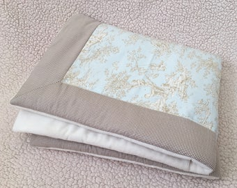 Horizon Central Park Toile Baby & Toddler QUILT BLANKET - Toile Baby Quilt Blanket - Toile Toddler Quilt Blanket - Made-To-Order