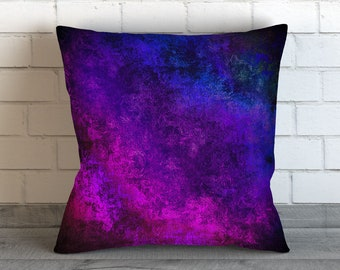 Multicolor Pillow Cover Abstract Art Pillow Original Digital Painting Abstract Art Impressionist Modern Art Contemporary Gothic Purple Blue