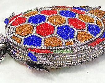 Bedazzled Sea Turtle Clutch