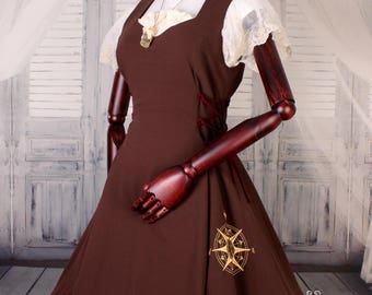 Compass Lolita Steampunk JSK-one of a kind