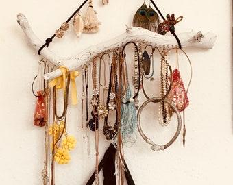 Jewellery tree with hangers handmade