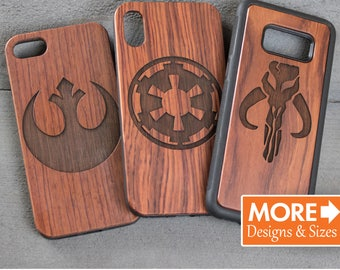 Star Wars iPhone Case, Wooden Gift, Phone Case, Personalized Gift For Him, Wooden Phone Case, Monogram iPhone Case, Rebel, empire, Boba Fett