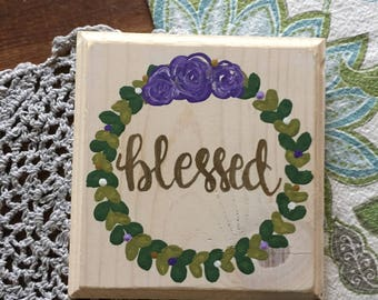 Hand Lettered Hand Painted Wood Sign Plaque