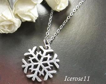 Silver Snowflake necklace