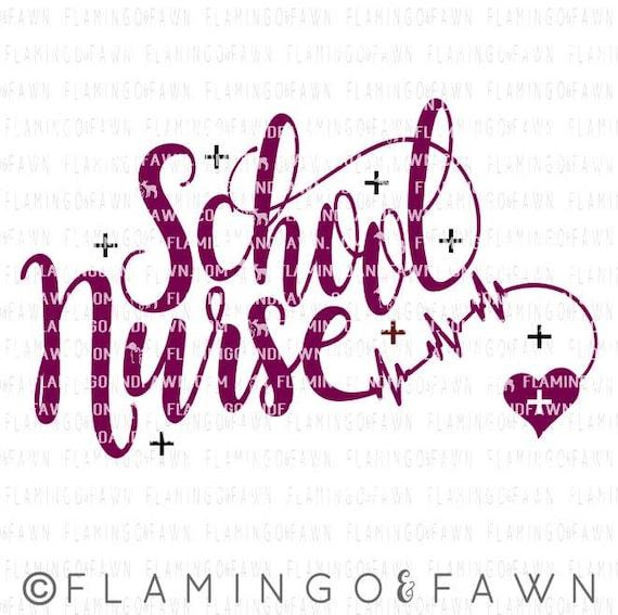 School Nurse Svg Nuse Svg Files School Nurse Dxf Back To