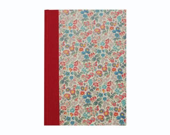 Address Book A5 floral pattern in red and grey, large telephone book,