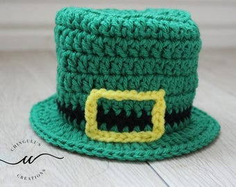 Crochet Leprechaun Hat Baby Irish Hat Baby Saint Patrick's Day Outfit Leprechaun Hat Baby Boy St Patrick's Day Outfit HAT ONLY
