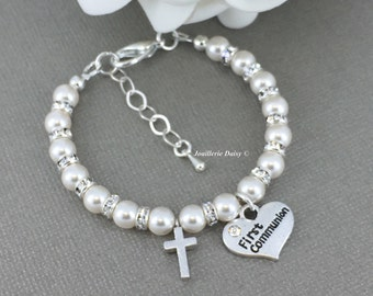 Goddaughter Gift First Communion Gift Cross Bracelet Goddaughter Bracelet First Communion Jewelry Goddaughter Jewelry for Her