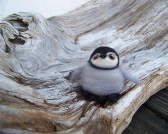 Needle Felted Baby Emperor Penguin