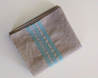 Tea Towel//Brown//Kitchen Towel//Hand Towel//Prewashed//Handmade