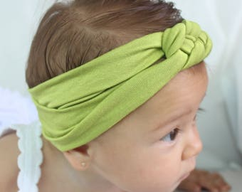 knot headband baby, newborn knot headband, womens knot headband, celtic knot headband, knot headband, turban headband women, green headband