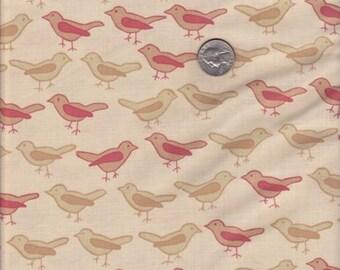 SALE - Fat quarter - Birds in Twig - Valori Wells Nest cotton quilt fabric