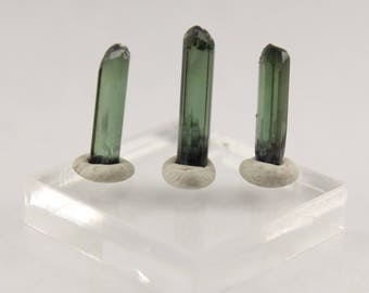 3 piece selection of Pederniera Mine tourmaline crystals from Brazil 4.4 ct