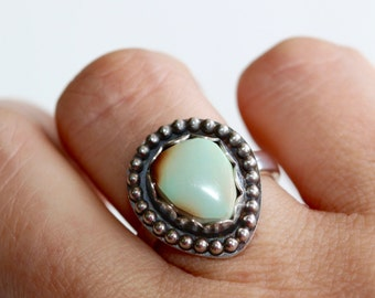 Turquoise Ring * Southwestern Ring * Cocktail Ring * Bezel Ring * Turquoise Jewelry * Sterling Silver Ring * Boho Rings * Gemstone Ring