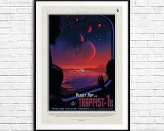 NASA Trappist 1 poster, NASA Trappist poster, Trappist-1, NASA poster, Nasa Posters, Nasa Jpl Posters, Nasa Future Visions, Space Posters