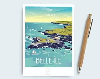 Beautiful postcard island map
