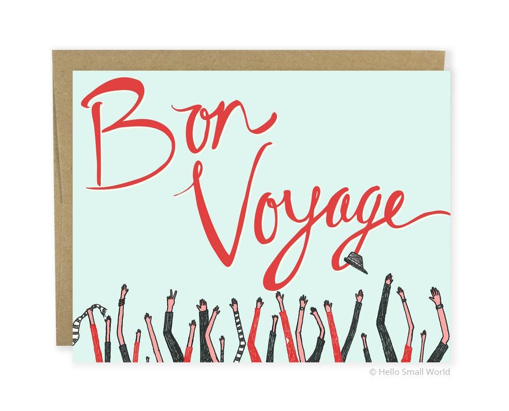 cute goodbye card bon voyage card coworker leaving card