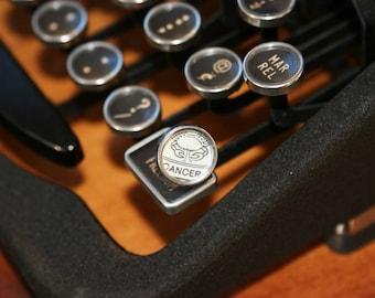 Cancer Typewriter Key Pin