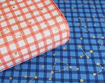 Kokka - cotton sheeting - constellation fabric - 50cm
