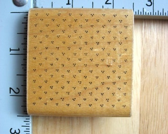 DOTS Sarah Jane Dotted Tri Dot Background Texture DESTASH Rubber Stamp, Used Rubberstamp
