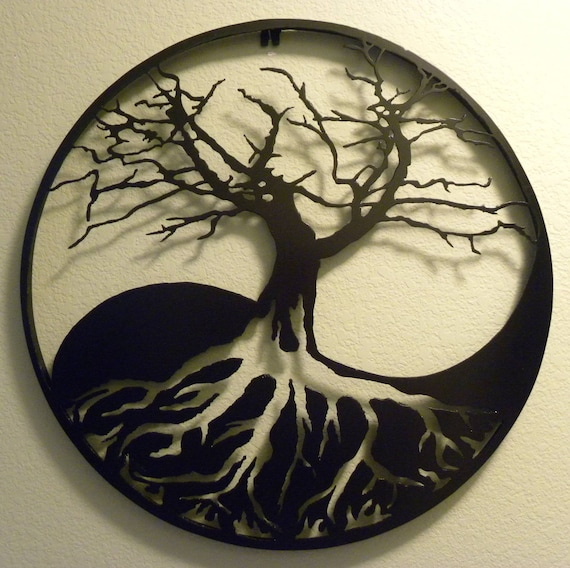 Yin Yang Tree Of Life Metal Wall Art