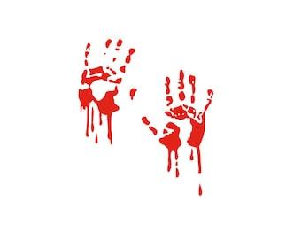 Bloody Hand Print SVG