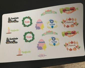 Sabbat planner stickers