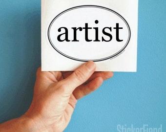 artist oval bumper sticker