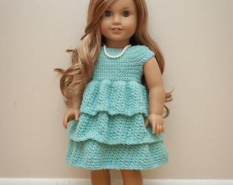The Ally Dress Crochet Pattern- Crochet American Girl Doll Dress Pattern- Crochet Doll Dress Pattern