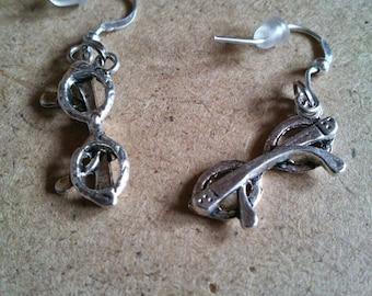 Earrings silver sunglasses