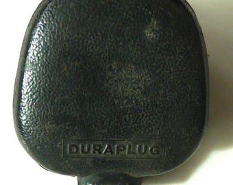 Duraplug electric three prong outlet plug antique vintage England 1900