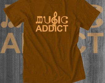 Music Addict T shirt | DJ T shirt | Musician Shirts | Music Clothing | DJ Gifts | Indie Clothing t-shirts | Indie T shirt | Free Shipping