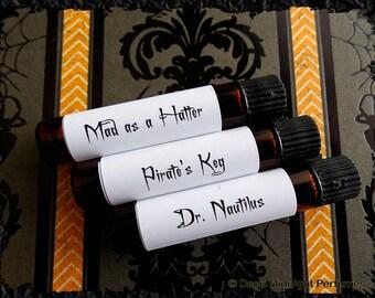 Steampunk Men Perfume Sample Set: Set of 3 vials, Valentine's Day, Mens Fragrance, Steampunk Perfume