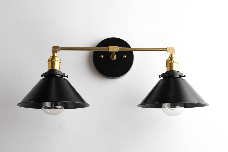 Black Brass Vanity Light Bathroom Wall Lamp Modern Fixture