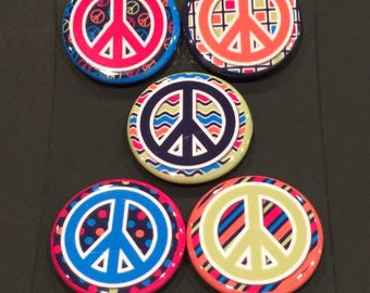 Button Magnets - Peace Signs