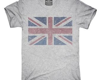 Retro Vintage United Kingdom Union Jack Flag T-Shirt, Hoodie, Tank Top, Gifts
