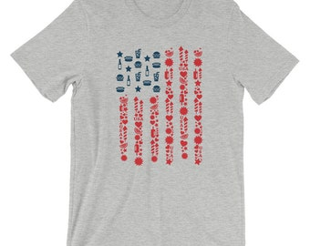 4th of July T-Shirt, Independence Day T-Shirt, American Flag T-Shirt, Patriotic Tee Shirt, Americana Shirt, Men's T-Shirt, Women's T-Shirt,