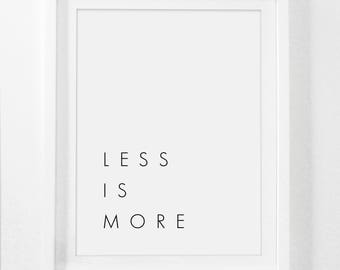 Less is More, Office Wall Art, Modern Office Decor, Office Art, Architect Gift, Architecture Gift, Architecture Poster, Printable Office Art