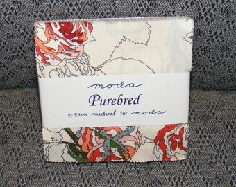 Moda Purebred Charm Squares Cotton Fabric by Erin Michael