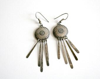 Native American Fringe Dangle Earrings